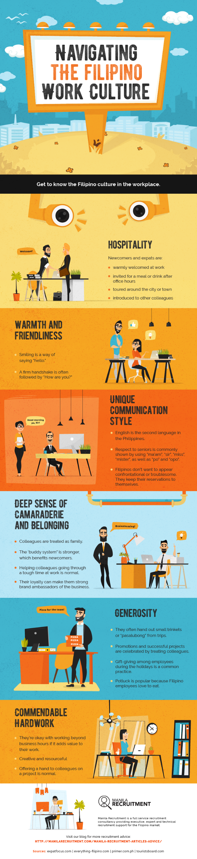 Navigating The Filipino Work Culture Infographic