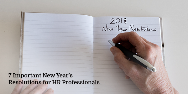 7 Important New Year's Resolutions for HR Professionals